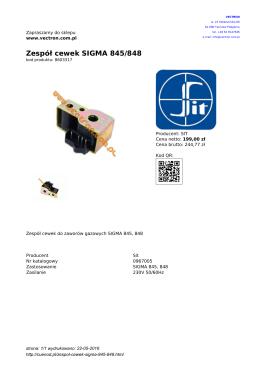 Zespół cewek SIGMA 845/848