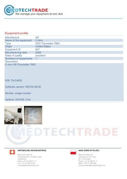 Equipment profile - Medtechtrade.com