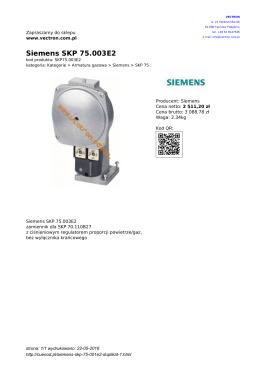 Siemens SKP 75.003E2