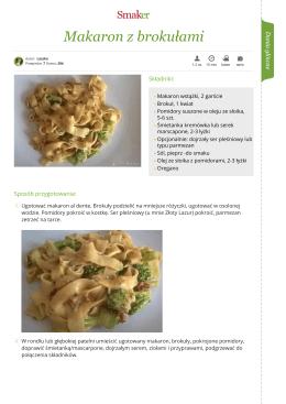 Makaron z brokułami