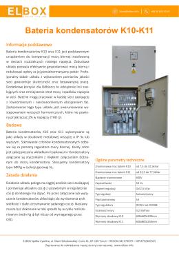 Bateria kondensatorów K10-K11