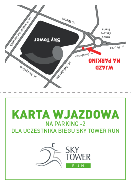 karta wjazdowa - Sky Tower Run