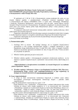 """Plan zabezpieczenia imprezy – """"Cracovia Maraton"""""""