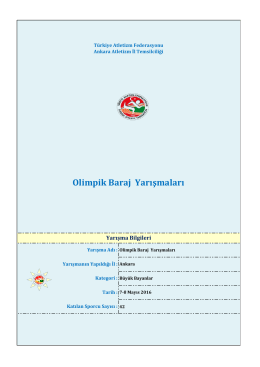 olimpik deneme - Türkiye Atletizm Federasyonu