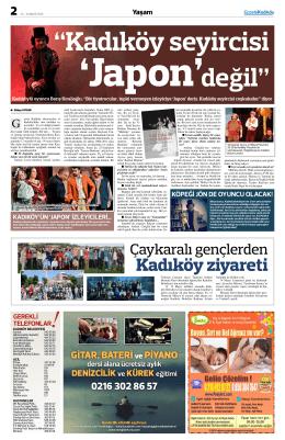 Kadıköy ziyareti - gazete kadıköy