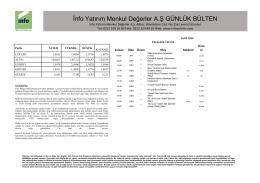 bülten - Info Yatırım FX