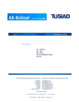 TUSIAD BXL 17 05 2016