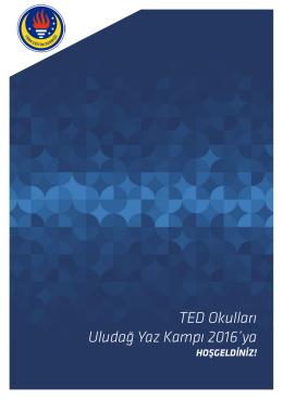 TED Okulları Uludağ Yaz Kampı 2016`ya