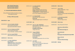 program - Yıldız Teknik Üniversitesi