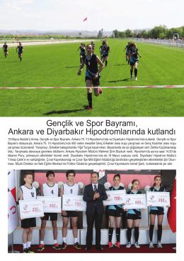 Gençlik ve Spor Bayramı, Ankara ve Diyarbakır