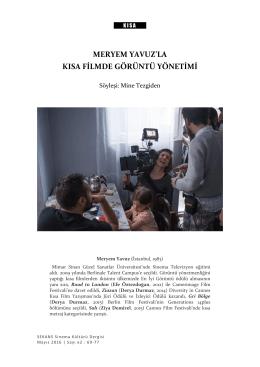 meryem yavuz`la kısa filmde görüntü yönetimi