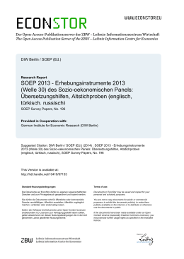 SOEP 2013 - EconStor