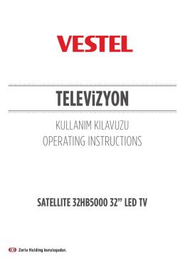 Vestel 32HB5000 Kullanım Kılavuzu (TR)