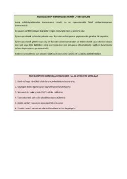 Amabiasiz hastalığından korunmada pratik uyarı notları