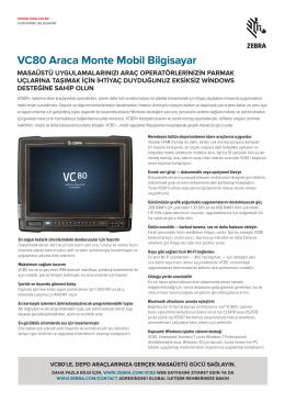 VC80 Teknik Özellikleri
