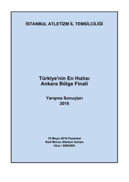 sonuçlar - Türkiye Atletizm Federasyonu