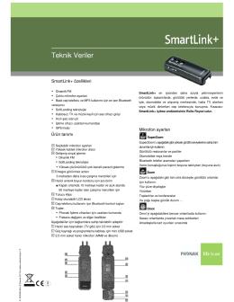 SmartLink+ Teknik Veriler - Eti İşitme Cihazları Merkezi