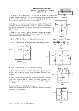 Fizik, Ödev Seti 7