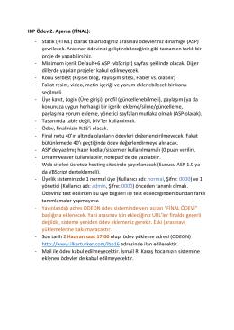 FİNAL ödevi hakkında açıklamalar {last edited : 15 May 2016}