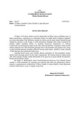 19 Mayıs Atatürk`ü Anma