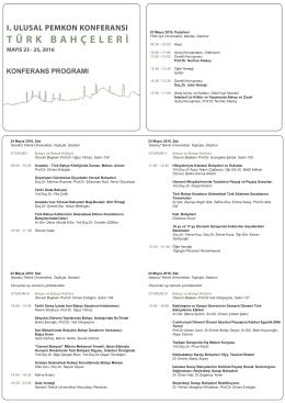 Konferans Programı - I. Ulusal PEMKON Konferansı