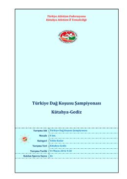 Kütahya-Gediz Türkiye Dağ Koşusu Şampiyonası