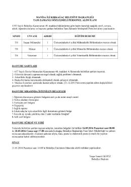 nciriu DURUMU - euygulama.dpb.gov.tr