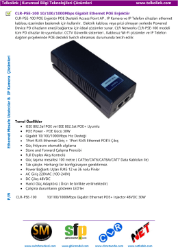 CLR-PSE-100 10/100/1000Mbps Gigabit Ethernet POE