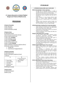 program - çalışma ekonomisi ve endüstri ilişkileri kongresi
