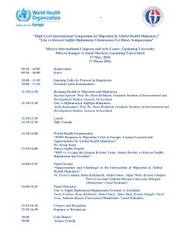 Göç ve Küresel Sağlık Diplomasisi Ul