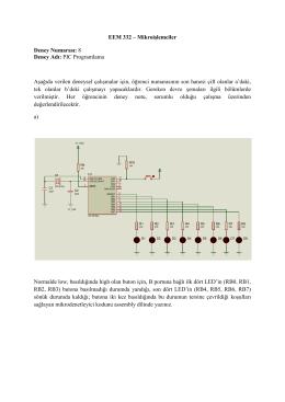 EEM 332 – Mikroişlemciler Deney Numarası: 8 Deney Adı: PIC
