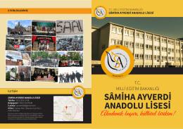 Okulumuzu Tanıtım Broşürü - Samiha Ayverdi Anadolu Lisesi