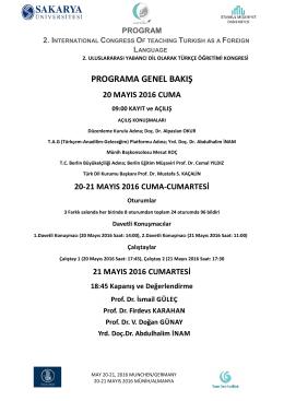 20-21 mayıs 2016 cuma-cumartesi - ICOTFL