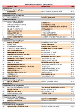 2015-2016 Bölgesel Amatör Lig Baraj Maçları Sonuçları için