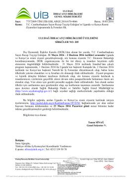 T.C. Cumhurbaşkanı Sayın Recep Tayyip Erdoğan`ın Uganda ve