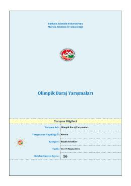Olimpik Baraj Yarışmaları - Türkiye Atletizm Federasyonu