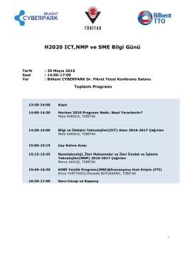 H2020 Eğtim Modülleri - AB Horizon 2020 Çerçeve Programı