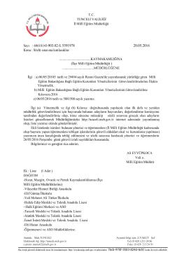 2016 yılı eğitim kurumu müdürlüğüne başvuruda bulunup sözlü