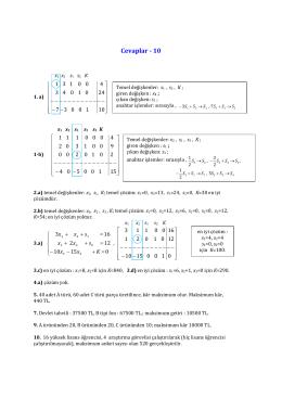 Cevaplar 10