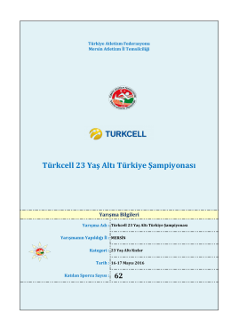 u23 türkiye şampiyonası - Türkiye Atletizm Federasyonu