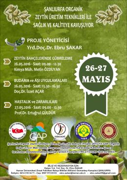 09.00 - 12.30 Prof.Dr. Ertuğrul GÜLDÜR 26-27 MAYIS