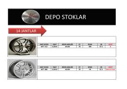 DEPO 2 JANT STOK - Srdotomotiv.com