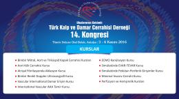Uluslararası Katılımlı TKDCD 14. Kongresi