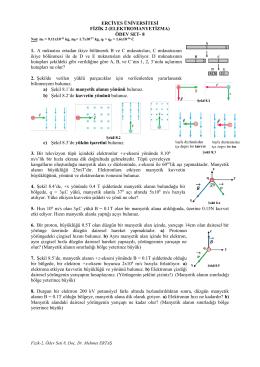 Fizik, Ödev Seti 8