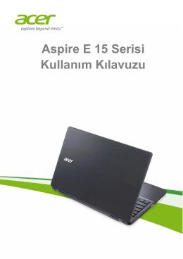 Acer Aspire E5-571G-36VL Kullanım Kılavuzu