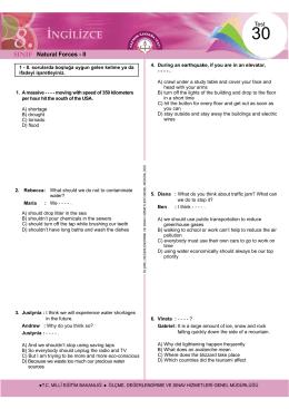 Test Natural Forces - II - Ölçme, Değerlendirme ve Sınav Hizmetleri