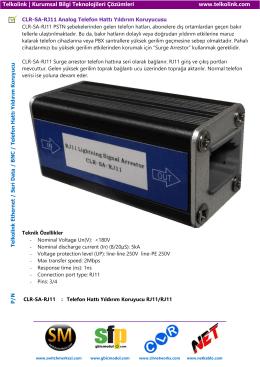 CLR-SA-RJ11 Analog Telefon Hattı Yıldırım Koruyucusu