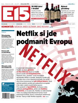 Netflix si jde podmanit Evropu