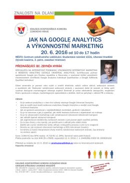 jak na google analytics a výkonnostní marketing