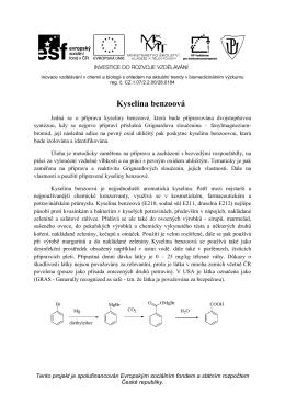 Kyselina benzoová